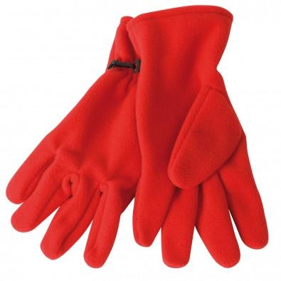 Microfleece-Handschuhe, Rot, S/M