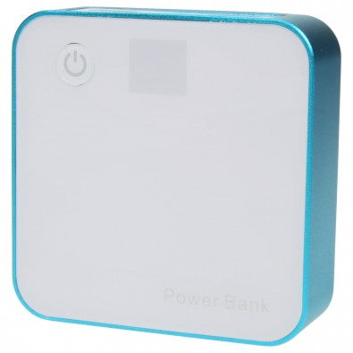 Powerbank Quader 6.600 mAh, Blau