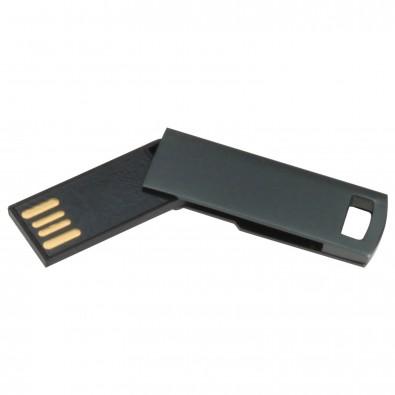 USB-Stick Mini-Twist, Schwarz, 16 GB