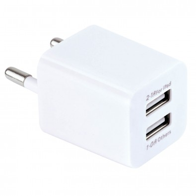 USB-Dual-Charger Weiß