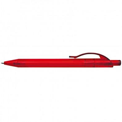 50x Kugelschreiber transparent Farbe rot
