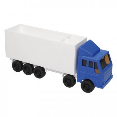 Zettelbox mit Stifteköcher LKW Blau/Weiß