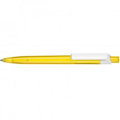 Kugelschreiber Insider Transparent, Gelb/Weiß