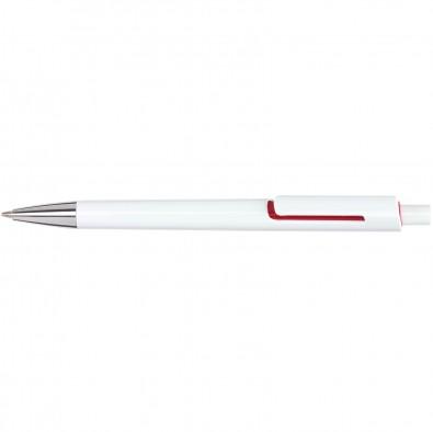 Druckkugelschreiber Piräus, Weiß/Rot