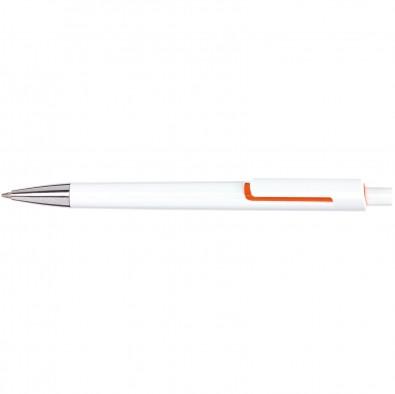 Druckkugelschreiber Piräus, Weiß/Orange
