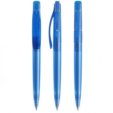 Prodir® Druckkugelschreiber DS 2 ohne Metallspitze Himmelblau Transp.