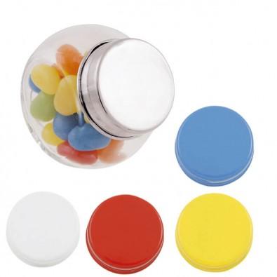 Mini-Bonbonglas mit Jelly Beans Blau