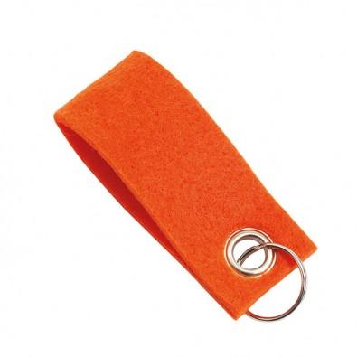 Filz-Schlüsselanhänger, Orange