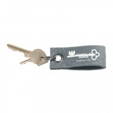 Filz-Schlüsselanhänger, Grau
