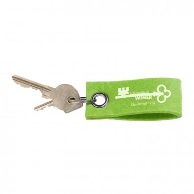 Filz-Schlüsselanhänger, grün