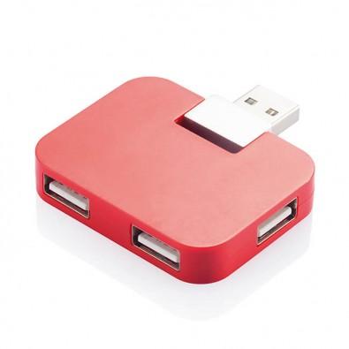 Reise-USB Hub Rot