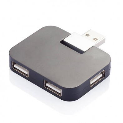Reise-USB Hub Schwarz