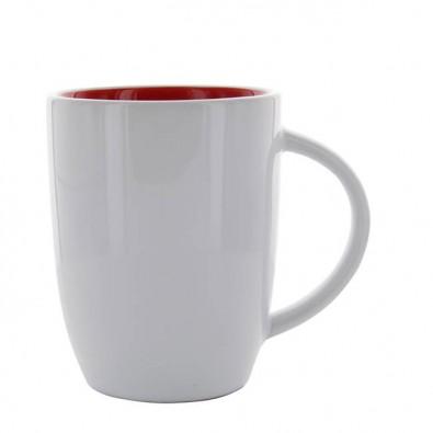 Keramikbecher Elise Weiß-Rot