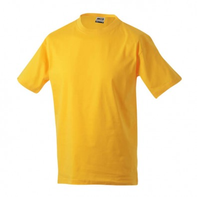 Original James & Nicholson Rundhals T-Shirt für Herren Gelb | XL