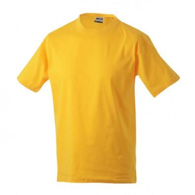 Original James & Nicholson Rundhals T-Shirt für Herren Gelb | XXL