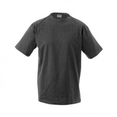 Original James & Nicholson Rundhals T-Shirt für Herren Grafit | M