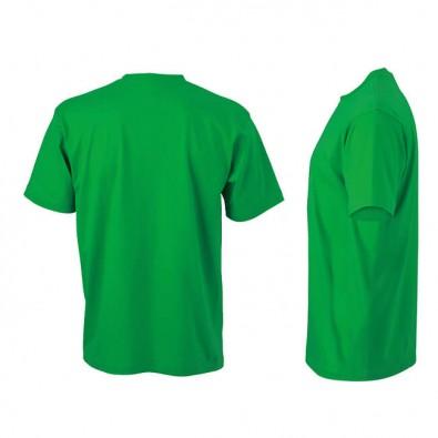 Original James & Nicholson Rundhals T-Shirt für Herren Grün | XXL