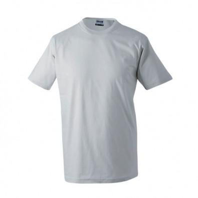 Original James & Nicholson Rundhals T-Shirt für Herren Grau | XL