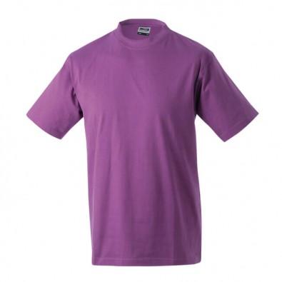 Orig. James & Nicholson Rundhals T-Shirt für Herren Lila | XXL