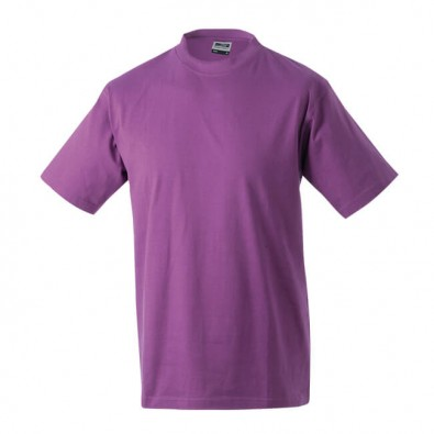 Original James & Nicholson Rundhals T-Shirt für Herren Lila | M