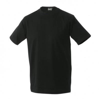 Original James & Nicholson Rundhals T-Shirt für Herren Schwarz | M