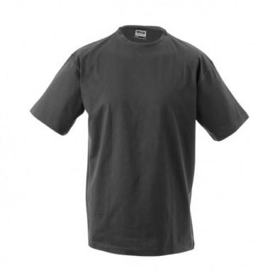 Original James & Nicholson Rundhals T-Shirt für Herren Schwarz | L