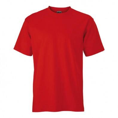 Original James & Nicholson Rundhals T-Shirt für Herren Rot | M