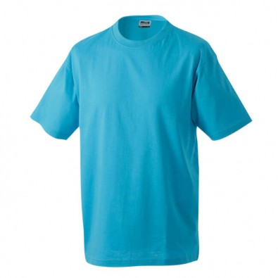 Original James & Nicholson Rundhals T-Shirt für Herren Türkis | L