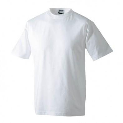 Original James & Nicholson Rundhals T-Shirt für Herren Weiß | L