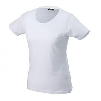 Original James & Nicholson Rundhals T-Shirt für Damen Weiß | M