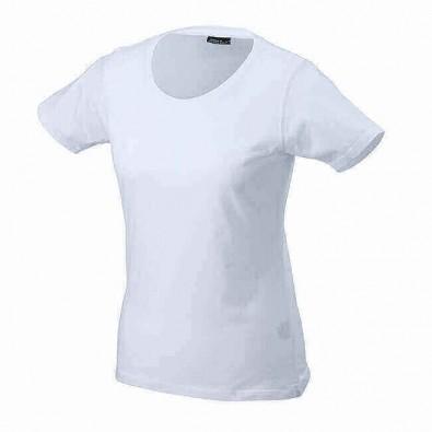 Orig. James & Nicholson Rundhals T-Shirt für Damen Weiß | XL