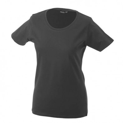 Original James & Nicholson Rundhals T-Shirt für Damen Grafit | M