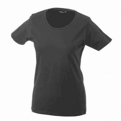 Original James & Nicholson Rundhals T-Shirt für Damen Grafit | XL