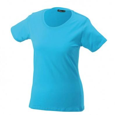 Original James & Nicholson Rundhals T-Shirt für Damen Türkis | S