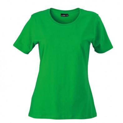 Original James & Nicholson Rundhals T-Shirt für Damen Grün | XL