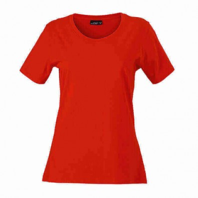 Original James & Nicholson Rundhals T-Shirt für Damen Rot | XL