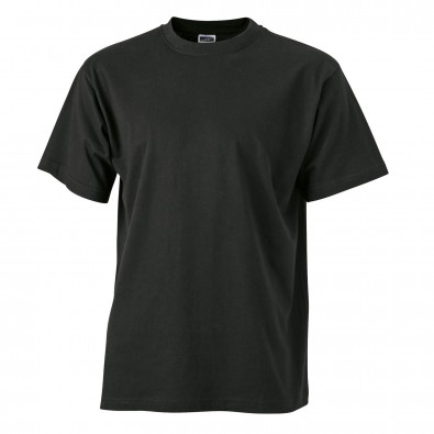 Original James & Nicolson Basic T-Shirt Schwarz | M