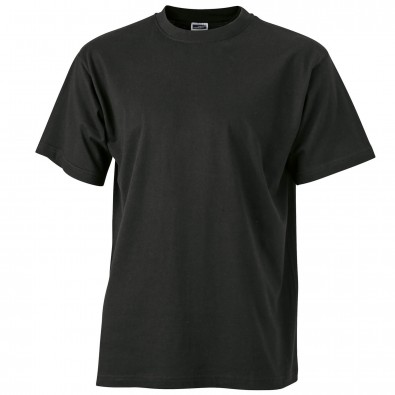 Original James & Nicolson Basic T-Shirt Schwarz | L