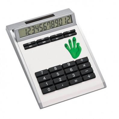 Taschenrechner Smile, Weiß, Grün