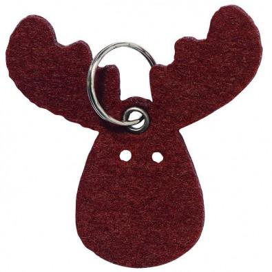 Schlüsselanhänger aus Filz Rentier