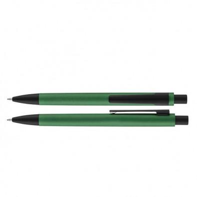Metall-Kugelschreiber Grün-Metallic
