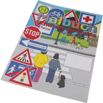Malbuch A4, Sicher auf der Straße