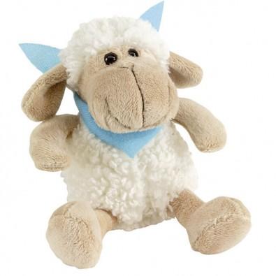 Plüsch-Tiere Fluffy Schaf Halstuch hellblau