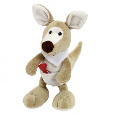 Plüsch-Tiere Fluffy Känguru Halstuch weiß