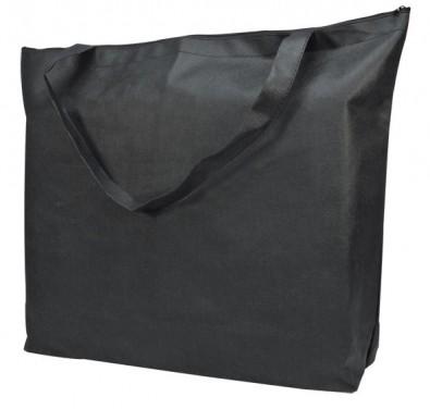 vlies einkaufstasche mit reissverschluss schwarz. Black Bedroom Furniture Sets. Home Design Ideas