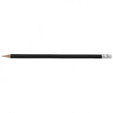 Bleistift Colore mit Radiergummi Schwarz-Matt