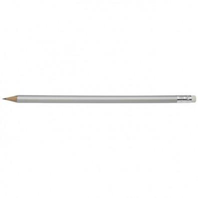 Bleistift Colore mit Radiergummi Silber-Matt