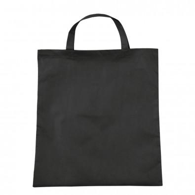 Vliestasche Textile mit kurzen Henkeln, Schwarz