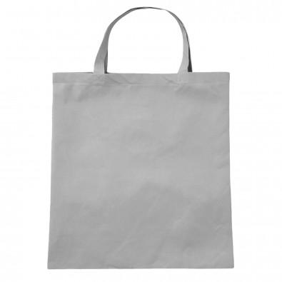 Vliestasche Textile mit kurzen Henkeln Grau