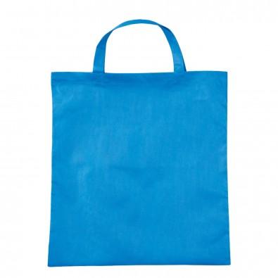Vliestasche Textile mit kurzen Henkeln Hellblau